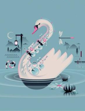 Песнептицы. Проект лондонского иллюстратора Эндрю Ная.