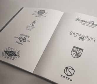 Подборка хипстерской айдентики норвежского дизайнера Йоргена Гротдала.