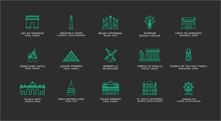 75 бесплатных туристических векторных иконок