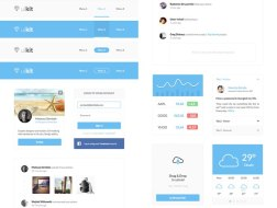UI8 freebies — десятки бесплатных товаров для UI и UX дизайнеров