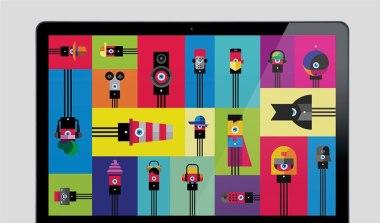 Транзистор: нейминг, логотип, фирменный стиль и набор персонажей