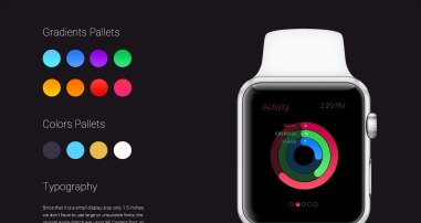 Бесплатный комплект интерфейсных элементов приложений для Эппл Вотч