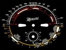 Настроечные панели старых американских радиоприемников