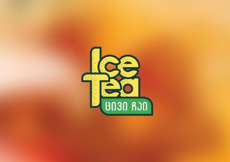 Упаковка марки холодного чая грузинского производителя соков Kampa