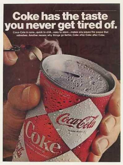 Реклама Кока-Колы 1960-х годов