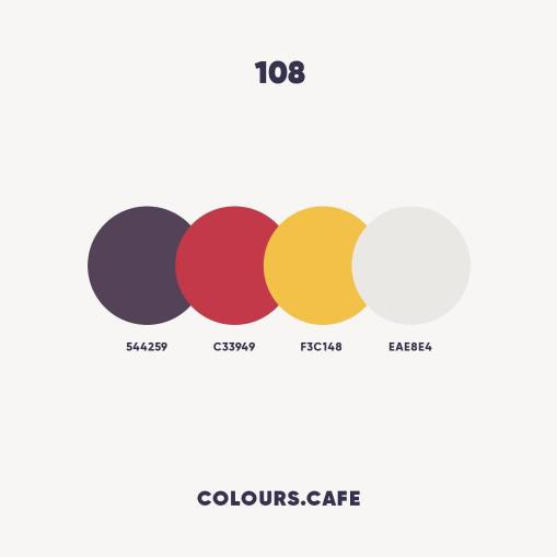 Colours Cafe — ежедневно пополняемая коллекция симпатичных цветовых схем. Сейчас уже 109 штук.