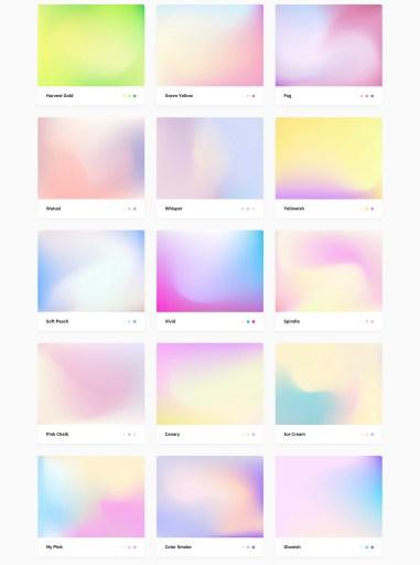 100 многоцветных градиентов