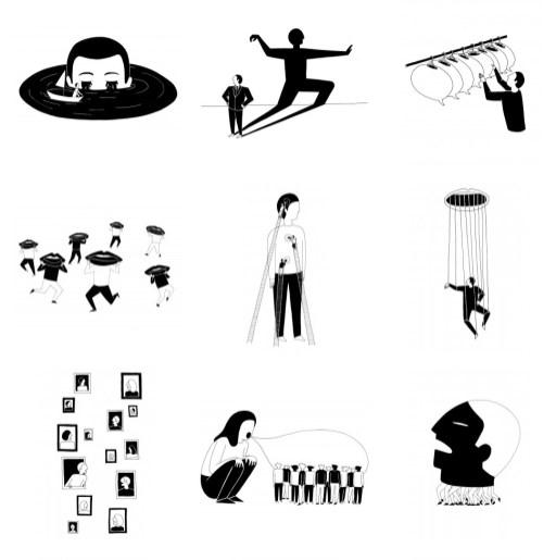 Минималистская иллюстрация Джони Майер из Берлина
