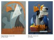 Трёхмерные кавер-версии картин Пикассо, выполненные Омаром Акилом из Пакистана