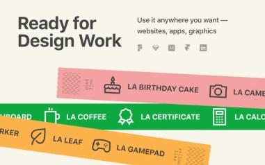 Бесплатный иконочный шрифт Line Awesome — 1380+ бесплатных линейных иконок