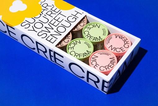 Минималистичная упаковка мороженого Nice Cream