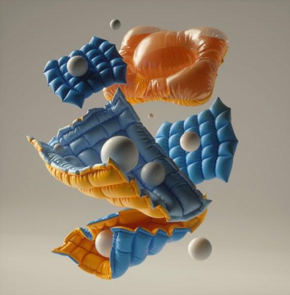 Абстрактные 3D-композиции Батухана Гюрселя из Торонто