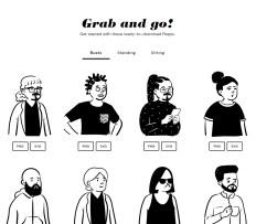 Конструктор рисованных персонажей Open Peeps