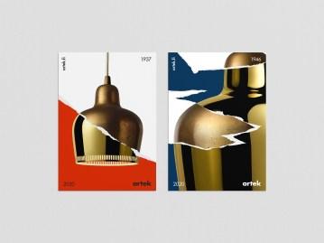 Постеры для финской мебельной марки Artek