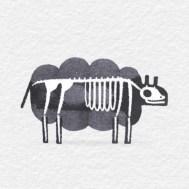 Каллиграфические животные и их скелеты. Эндр Фокс из Лондона