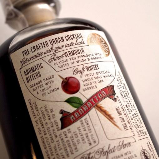 Этикетки и бутылки Alembiq — заранее смешанных алкогольных коктейлей