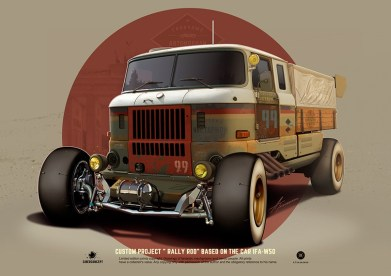 «Кастомные советские автомобили» иллюстратора Андрея Ткаченко