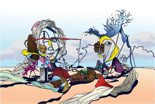 Работы Эдварда Карвало-Монагана, самобытного иллюстратора из Великобритании