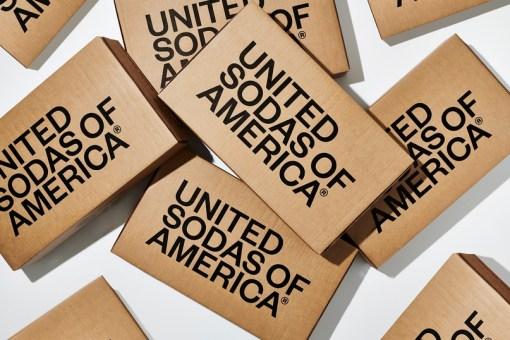 Минималистские банки газировки The United Sodas of America