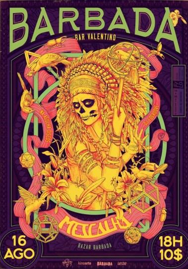 Плакаты бразильского иллюстратора Артура Дуарте для серии вечеринок Barbada