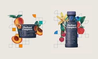 Упаковка продукции молочного бренда Chobani