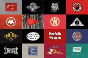 107 винтажных логотипов железнодорожных компаний США и Канады