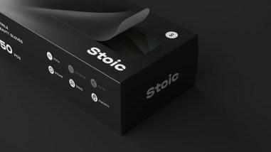 Дизайн упаковки одноразовых перчаток Stoic