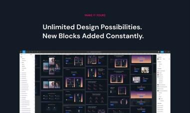 SaaS Blocks — UI Kit для лендингов стартапов из 70 блоков, формат Figma