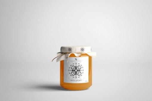 Студенческий проект: этикетки набора локального польского мёда с калейдоскопическими узорами