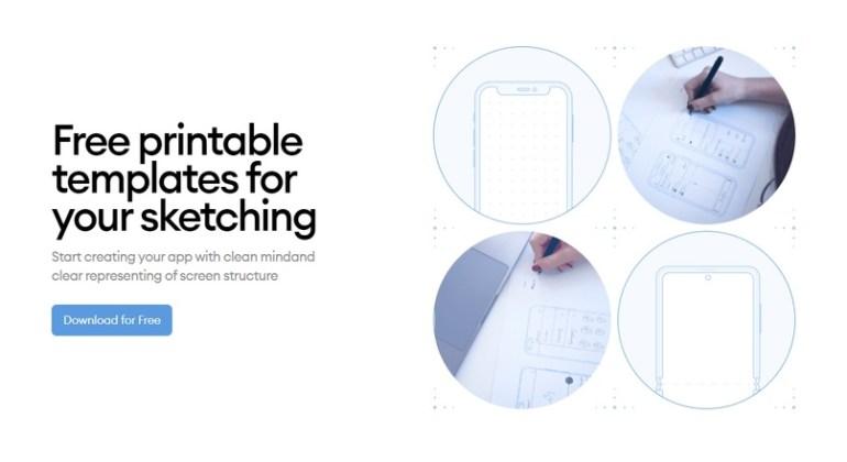 Printables — набор шаблонов для эскизов мобильных приложений, которые можно скачать и распечатать в нужном количестве