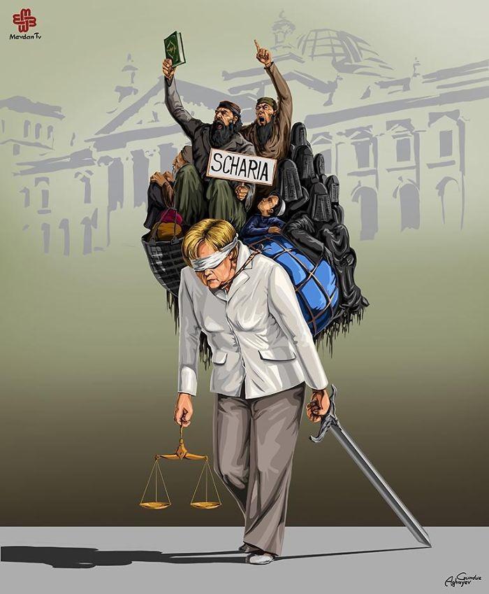 Cartunista retrata como líderes mundiais veem a justiça (14)