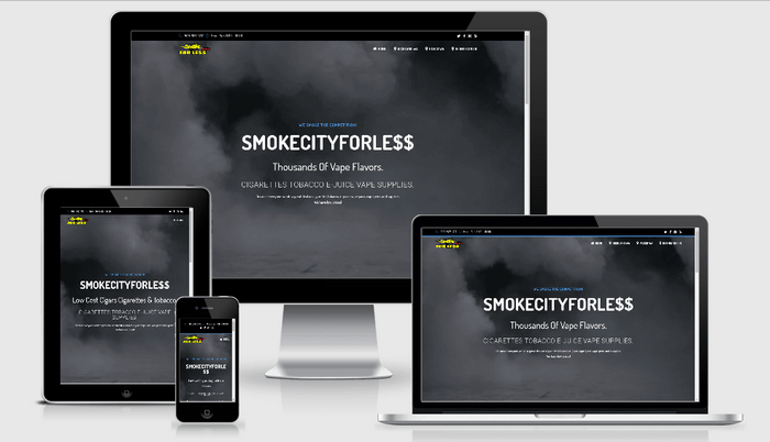 smokecityforless - 1 of our portfolio page examples.