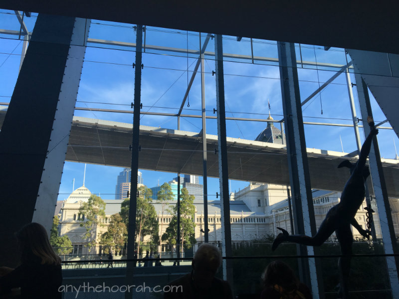 blue skies - exhibition building and silhouette museum