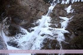 Frozen Upper Falls of Multnomah Falls