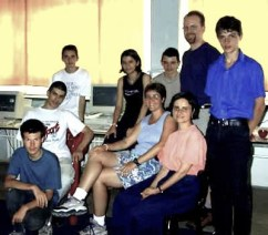 With a high school class in Sibiu, Romania