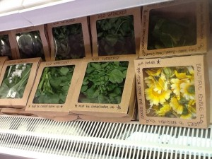 Edible flowers and wild salads. Just some of the freshly grown produce available from the Secret Herb Garden