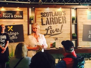 Telling show visitors about Scottish Salmon