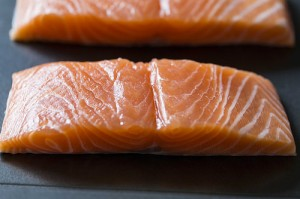 Scottish salmon is ideal for risotto and lemon thyme is a perfect partner