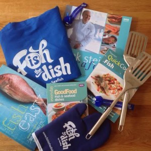 Seafood books and goodies to be won in the Wee Pinch of Sugar giveaway.
