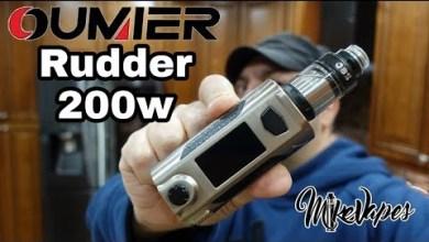 Impressive!! Oumier Rudder 200w Mod – Mike Vapes