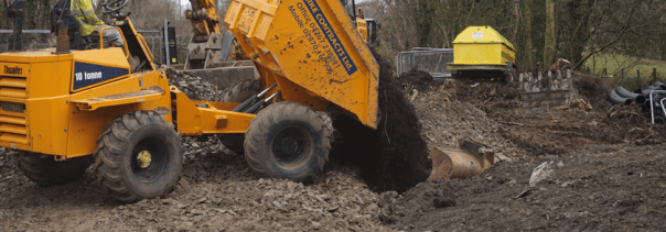 Moving soil to the bellmouth