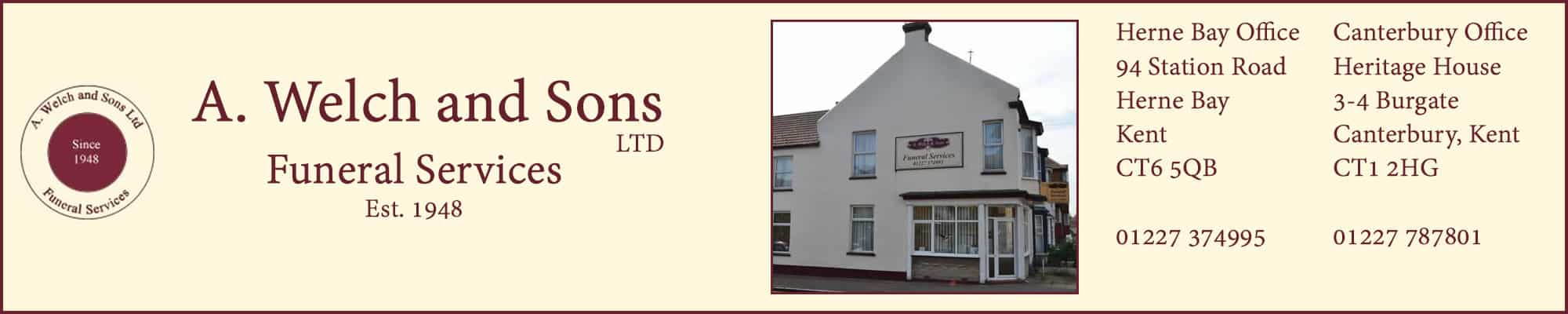 A Welch and Sons Funeral Services Herne Bay | Canterbury
