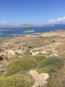 View of the ancient site of Delos