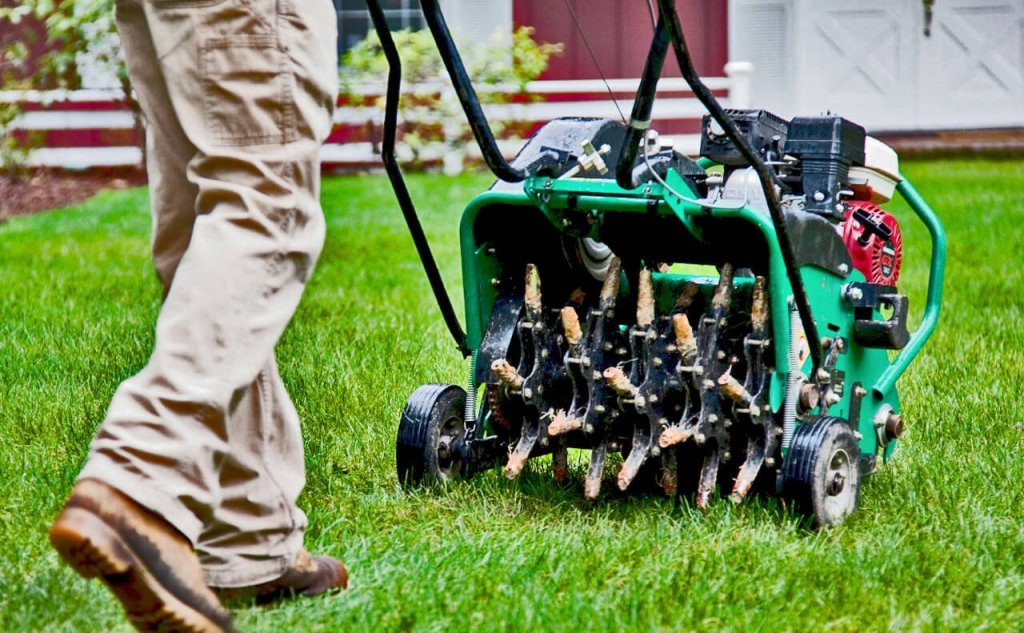 Aerate your lawn for fall yard prep