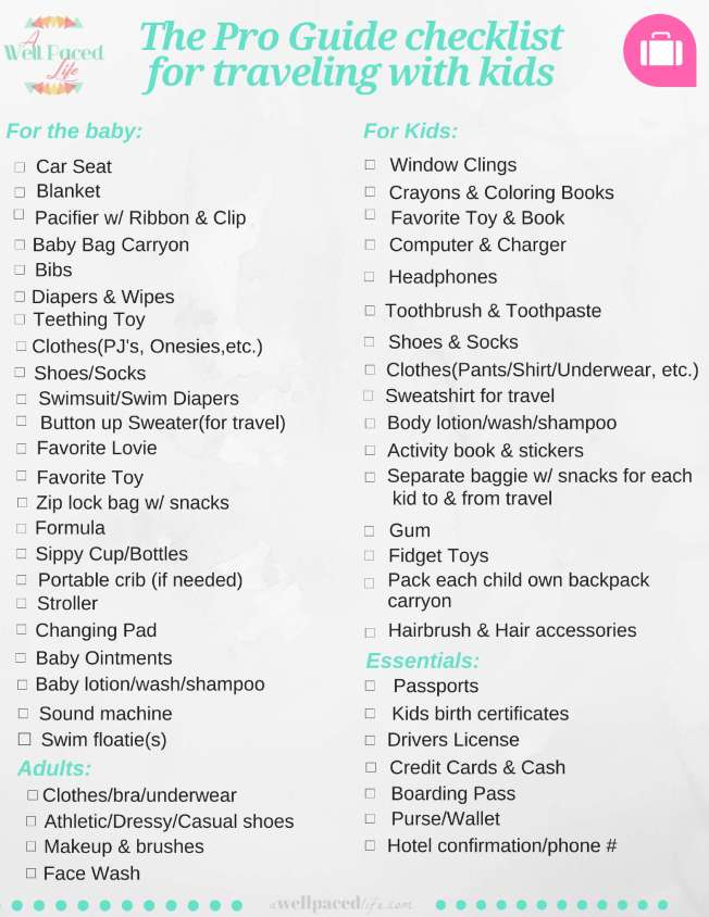 pro guide to traveling with kids & free printable checklist