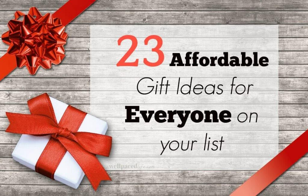 23 affordable gift ideas for everyone on your list