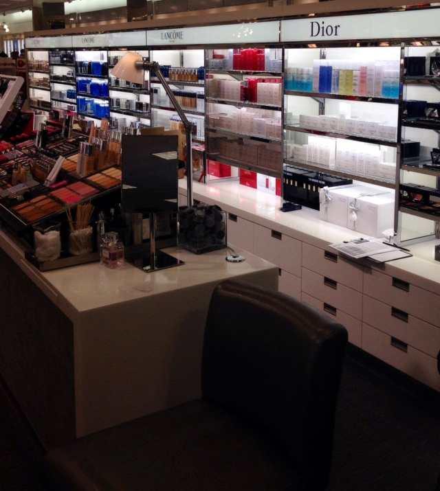 Dior makeup counter