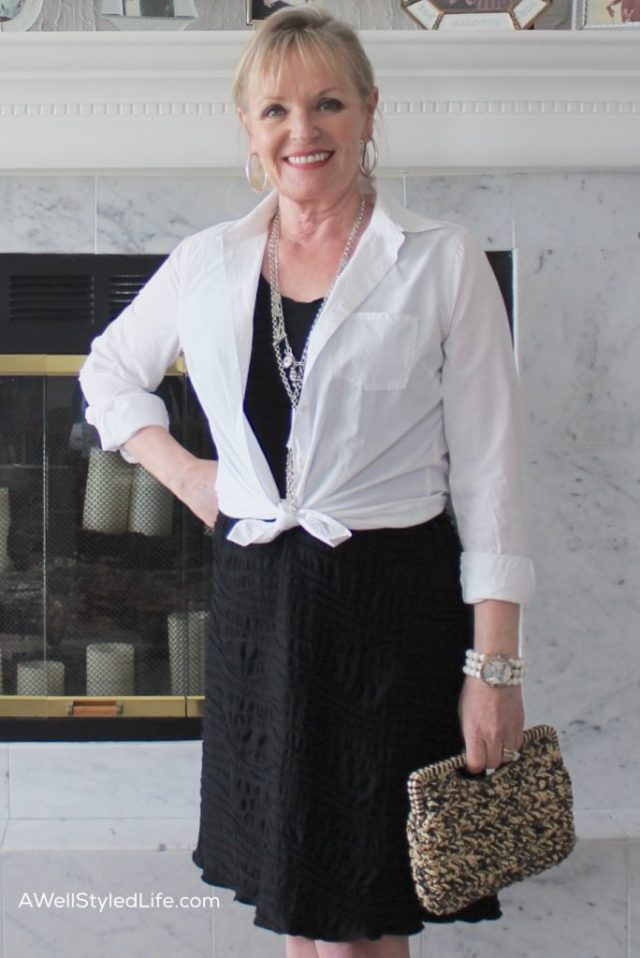Proper proportion is critical for the Petite Woman Over 50. A smaller sized handbag is in proportion to my body.