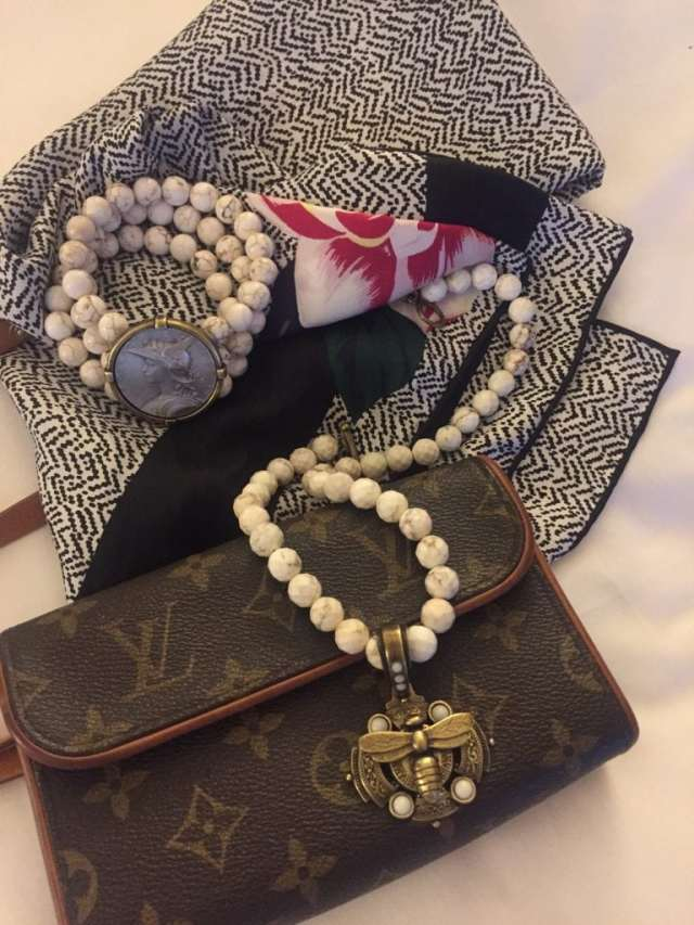 accessories add punch to black for travel