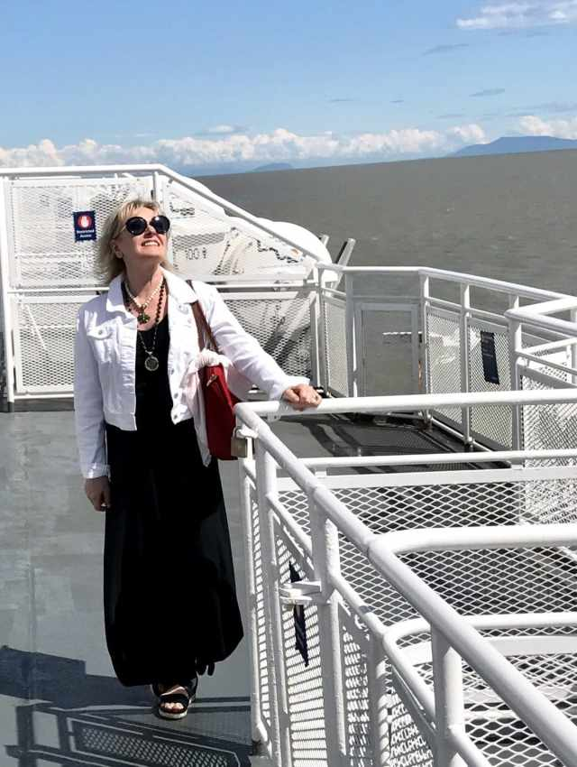 on the BC ferry to Vancouver Island